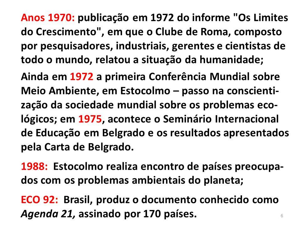 Anos 1970: publicação em 1972 do informe