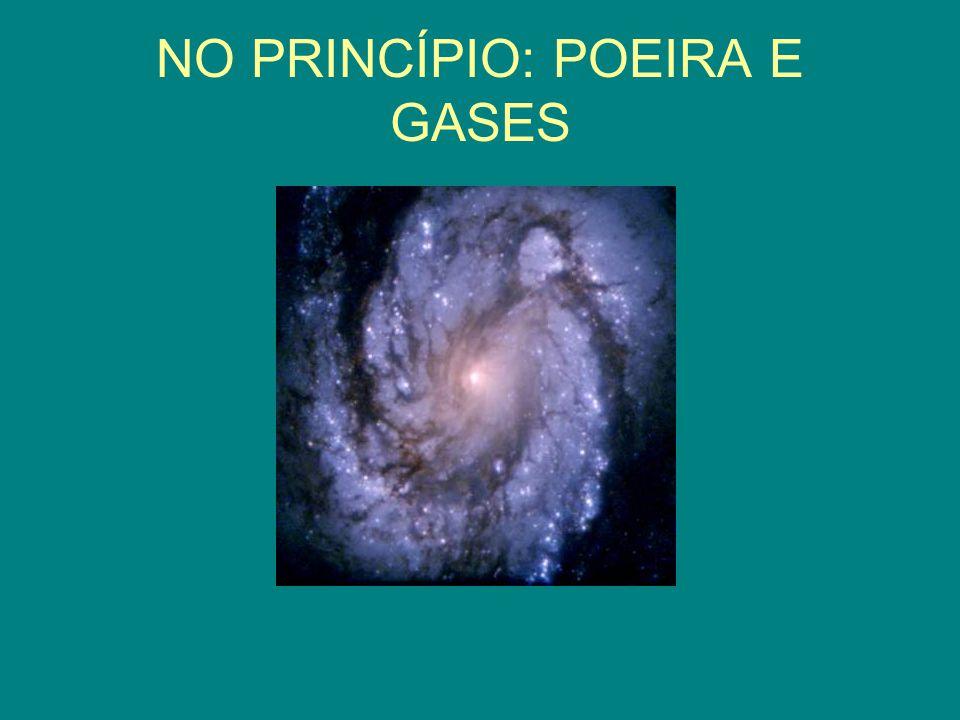 NO PRINCÍPIO: POEIRA E GASES