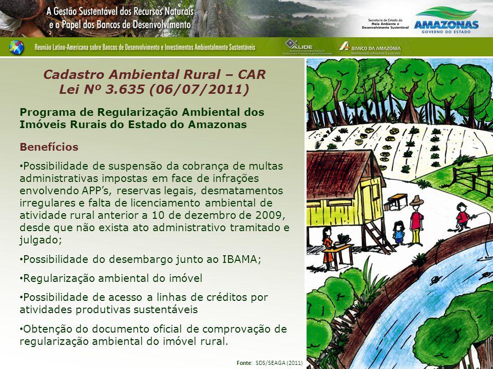 Programa de Regularização Ambiental dos Imóveis Rurais do Estado do Amazonas Benefícios Possibilidade de suspensão da cobrança de multas administrativ