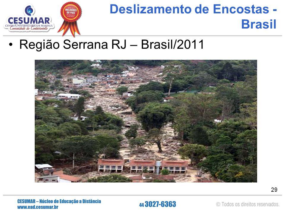 29 Deslizamento de Encostas - Brasil Região Serrana RJ – Brasil/2011