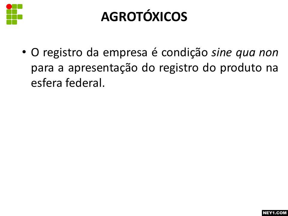 O registro da empresa é condição sine qua non para a apresentação do registro do produto na esfera federal.