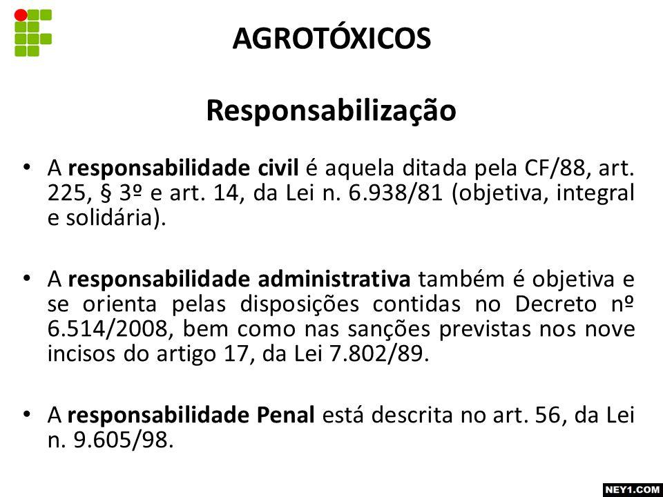 Responsabilização A responsabilidade civil é aquela ditada pela CF/88, art.