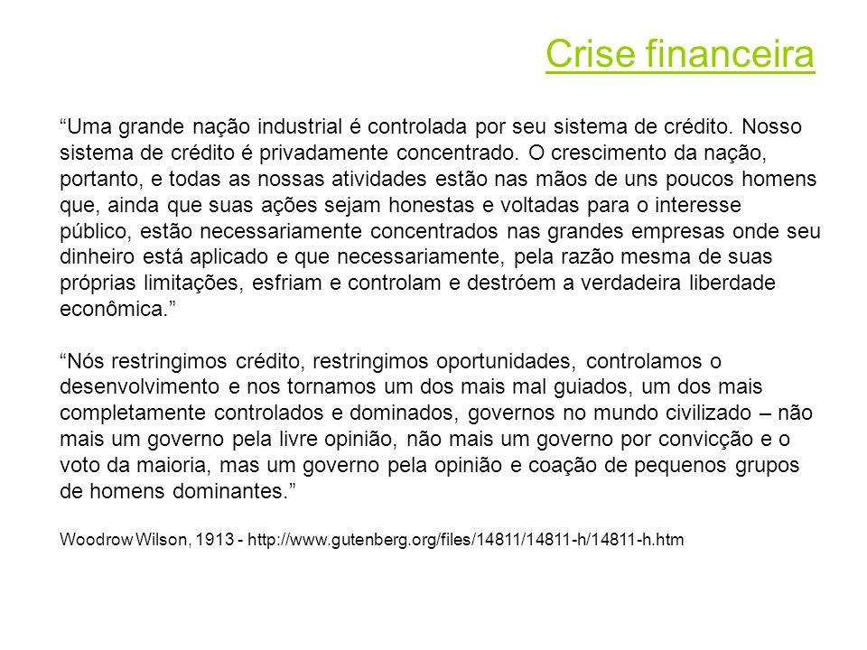 Uma grande nação industrial é controlada por seu sistema de crédito.