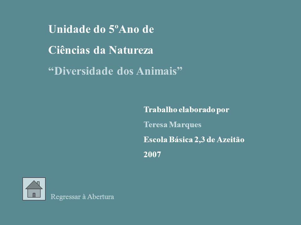 Informações sobre a apresentação Índice Ciências da Natureza 5º Ano Diversidade dos ANIMAIS Principal