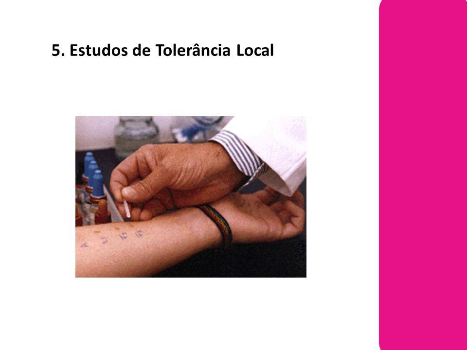 5. Estudos de Tolerância Local