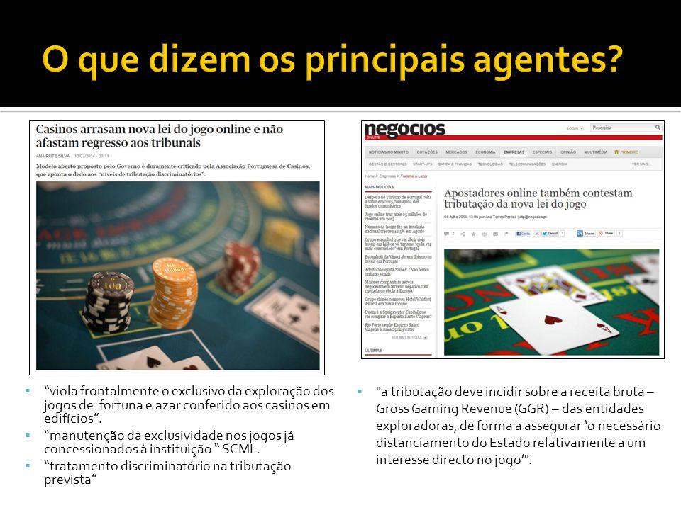 """ """"viola frontalmente o exclusivo da exploração dos jogos de fortuna e azar conferido aos casinos em edifícios"""".  """"manutenção da exclusividade nos jo"""