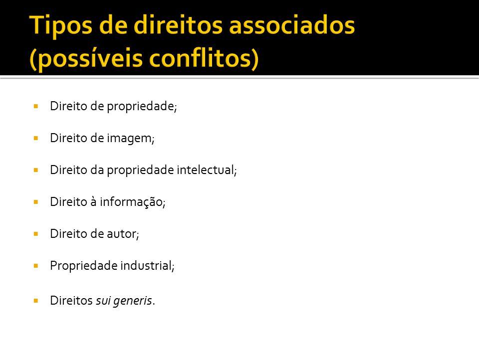  Direito de propriedade;  Direito de imagem;  Direito da propriedade intelectual;  Direito à informação;  Direito de autor;  Propriedade industr