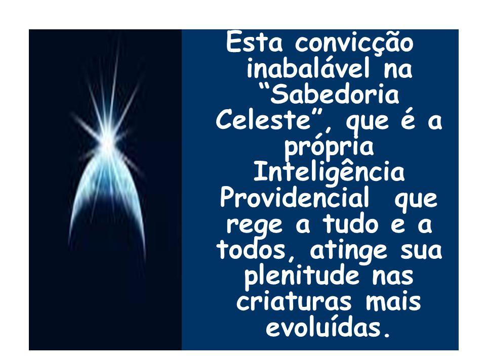 """Esta convicção inabalável na """"Sabedoria Celeste"""", que é a própria Inteligência Providencial que rege a tudo e a todos, atinge sua plenitude nas criatu"""