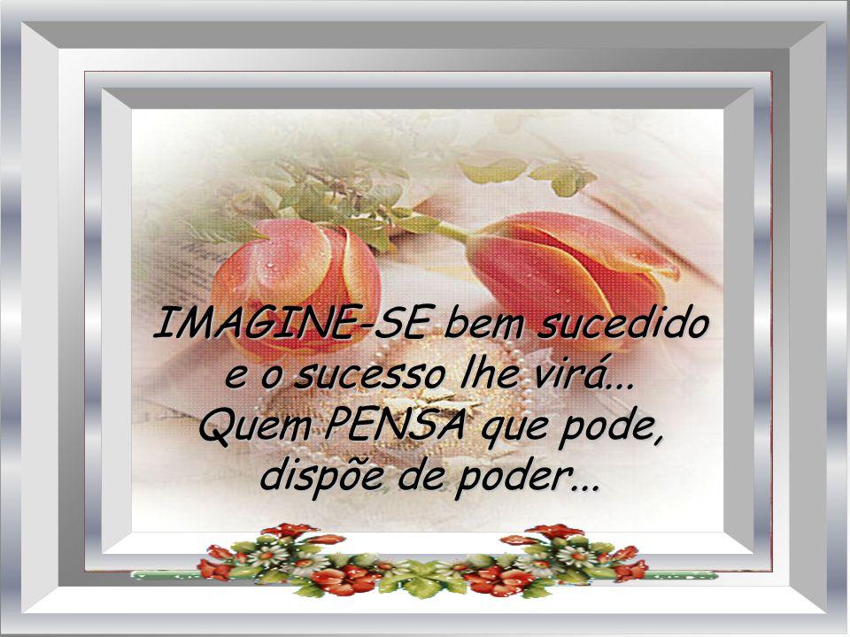 IMAGINE-SE bem sucedido e o sucesso lhe virá... Quem PENSA que pode, dispõe de poder...