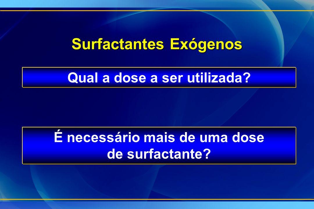 Surfactantes Exógenos Qual a dose a ser utilizada? É necessário mais de uma dose de surfactante?