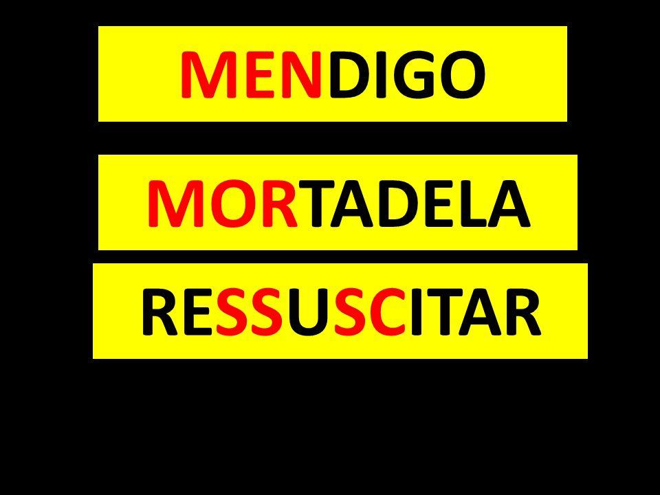 MORTADELA RESSUSCITAR MENDIGO