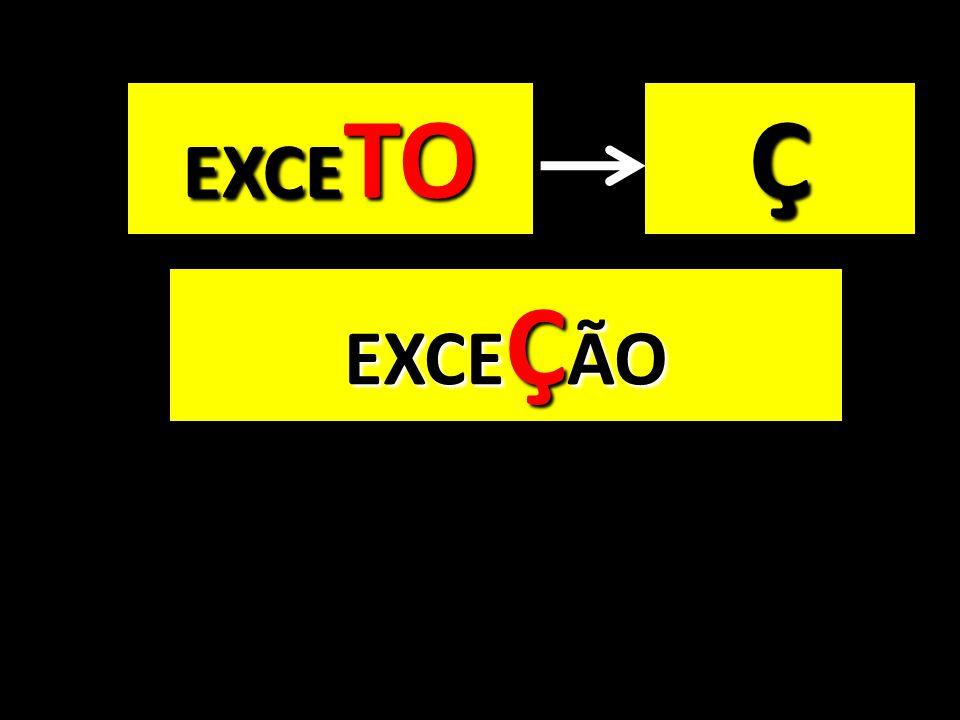 EXCE TO EXCE Ç ÃO Ç