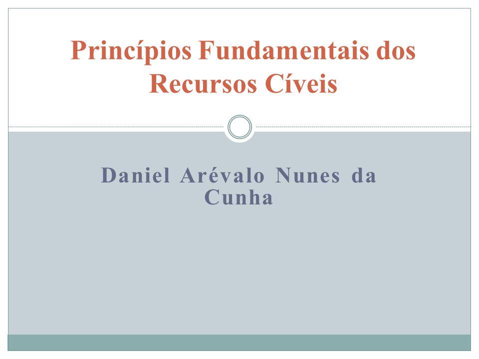 Daniel Arévalo Nunes da Cunha Princípios Fundamentais dos Recursos Cíveis