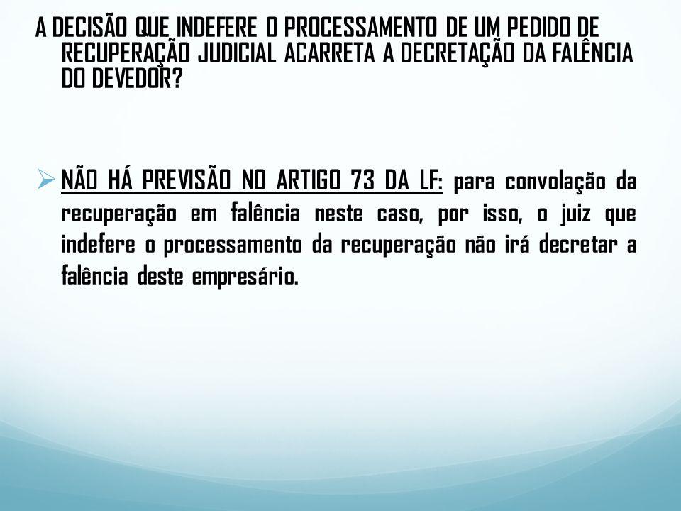PLANO DE RECUPERAÇÃO JUDICIAL.APROVAÇÃO PELA AGC.