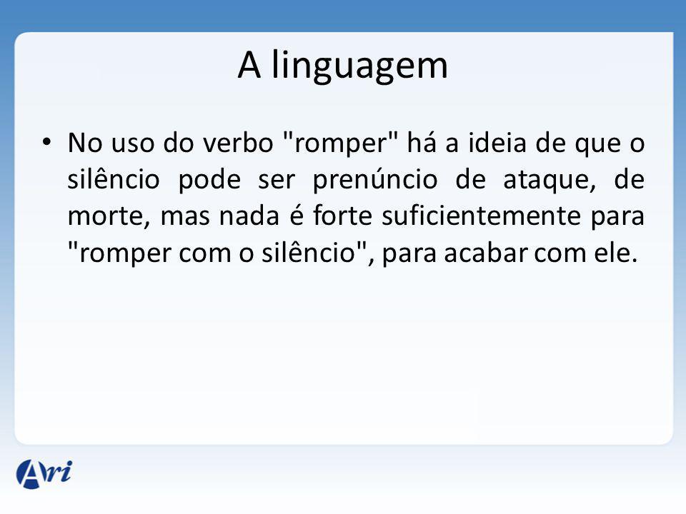 A linguagem No uso do verbo
