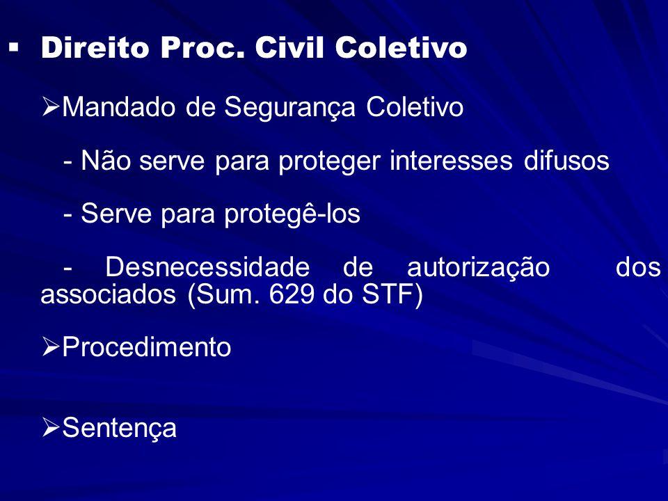 Direito Proc.Civil Coletivo  Mandado de Segurança Coletivo   Coisa julgada - Art.