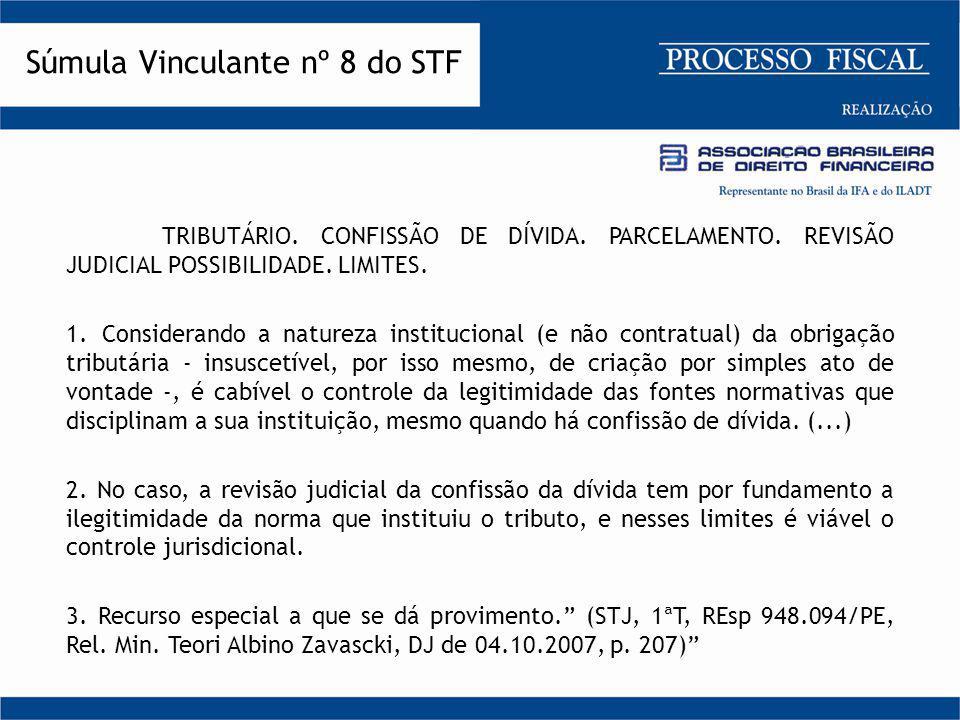 TRIBUTÁRIO. CONFISSÃO DE DÍVIDA. PARCELAMENTO. REVISÃO JUDICIAL POSSIBILIDADE. LIMITES. 1.Considerando a natureza institucional (e não contratual) da