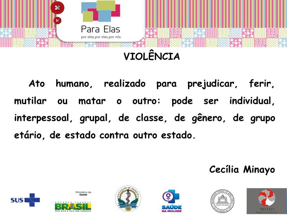 VIOLÊNCIA Ato humano, realizado para prejudicar, ferir, mutilar ou matar o outro: pode ser individual, interpessoal, grupal, de classe, de gênero, de
