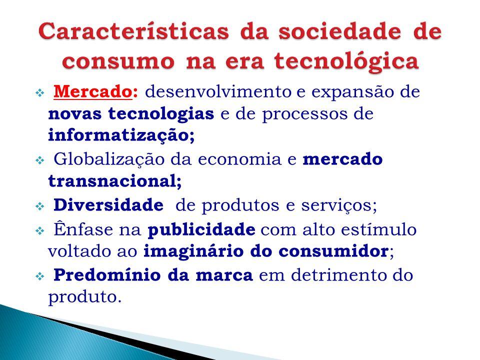  Mercado: desenvolvimento e expansão de novas tecnologias e de processos de informatização;  Globalização da economia e mercado transnacional;  Div