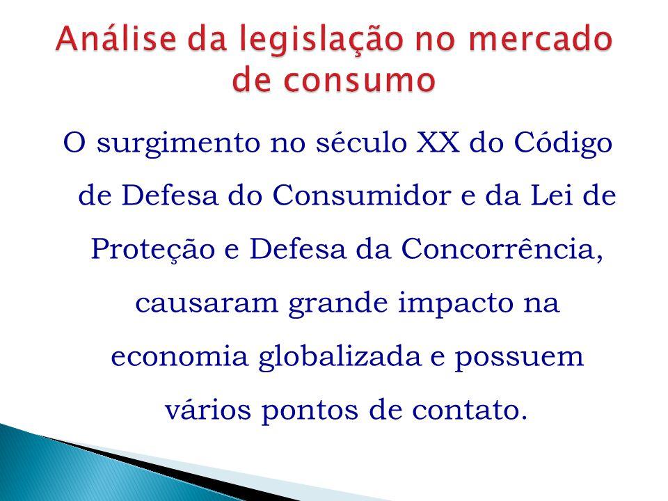 O surgimento no século XX do Código de Defesa do Consumidor e da Lei de Proteção e Defesa da Concorrência, causaram grande impacto na economia globali