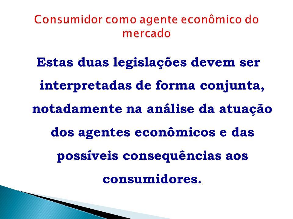 Estas duas legislações devem ser interpretadas de forma conjunta, notadamente na análise da atuação dos agentes econômicos e das possíveis consequênci