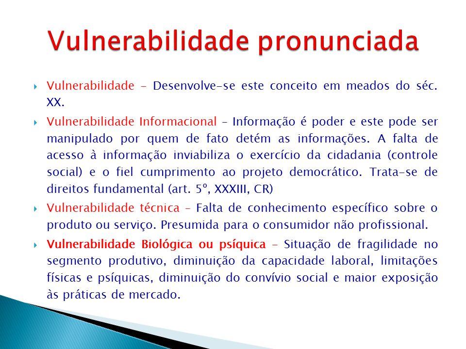  Vulnerabilidade - Desenvolve-se este conceito em meados do séc. XX.  Vulnerabilidade Informacional – Informação é poder e este pode ser manipulado