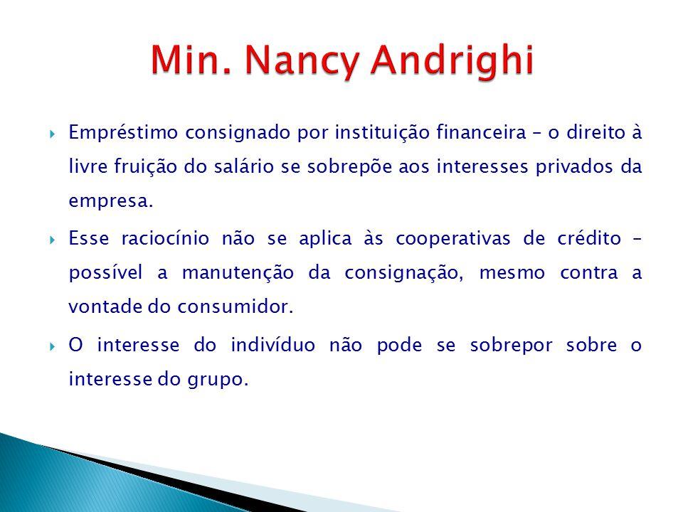  Empréstimo consignado por instituição financeira – o direito à livre fruição do salário se sobrepõe aos interesses privados da empresa.  Esse racio