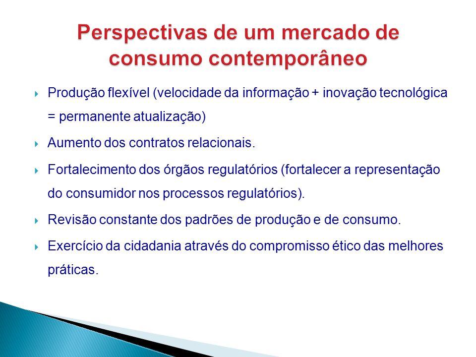  Produção flexível (velocidade da informação + inovação tecnológica = permanente atualização)  Aumento dos contratos relacionais.  Fortalecimento d