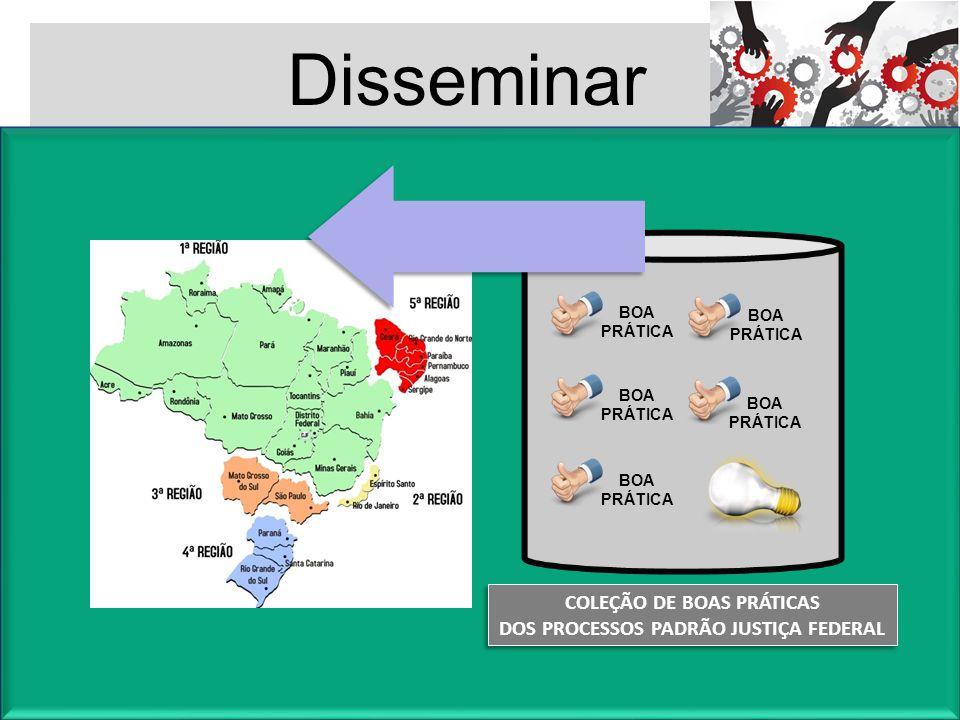 COLEÇÃO DE BOAS PRÁTICAS DOS PROCESSOS PADRÃO JUSTIÇA FEDERAL COLEÇÃO DE BOAS PRÁTICAS DOS PROCESSOS PADRÃO JUSTIÇA FEDERAL Disseminar BOA PRÁTICA BOA
