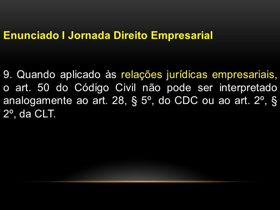 Enunciado I Jornada Direito Empresarial 9.