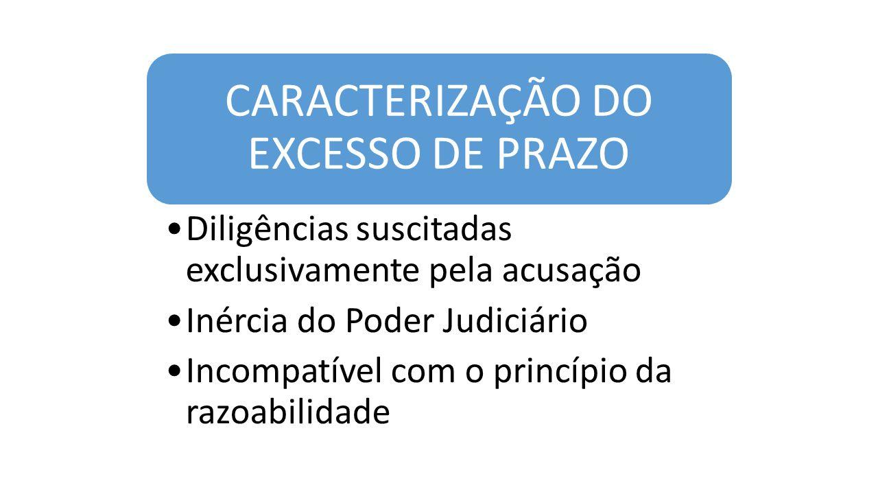 CARACTERIZAÇÃO DO EXCESSO DE PRAZO Diligências suscitadas exclusivamente pela acusação Inércia do Poder Judiciário Incompatível com o princípio da razoabilidade