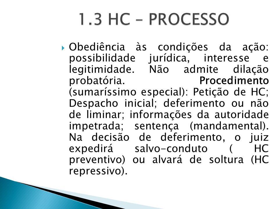  Obediência às condições da ação: possibilidade jurídica, interesse e legitimidade.