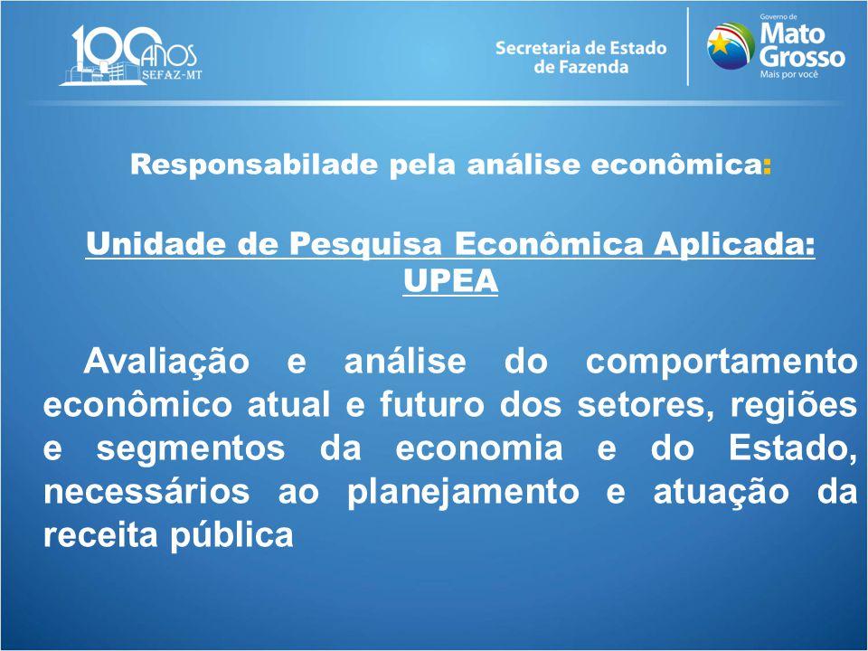 Responsabilade pela análise econômica: Unidade de Pesquisa Econômica Aplicada: UPEA Avaliação e análise do comportamento econômico atual e futuro dos