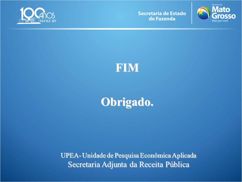UPEA- Unidade de Pesquisa Econômica Aplicada Secretaria Adjunta da Receita Pública FIMObrigado.