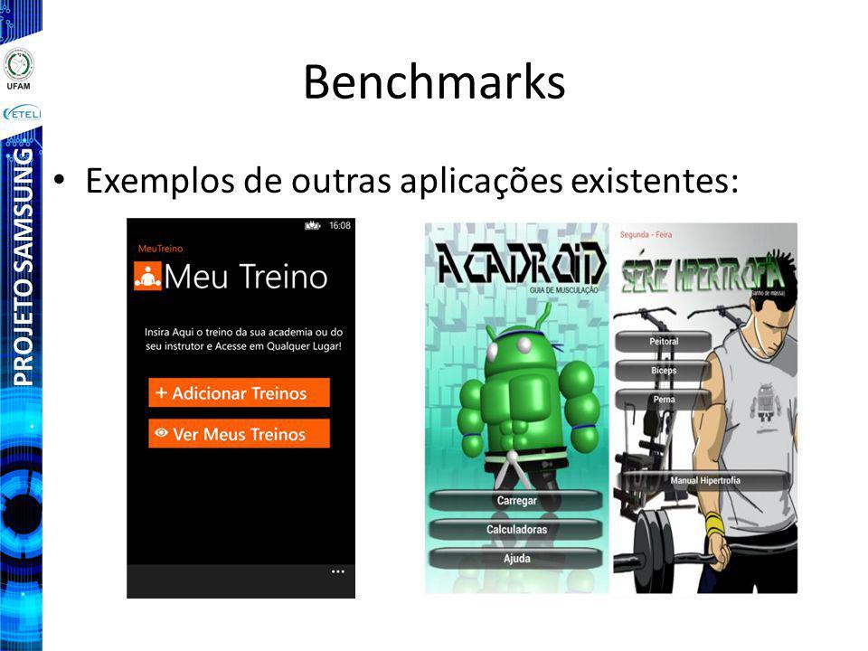 PROJETO SAMSUNG Benchmarks Exemplos de outras aplicações existentes: