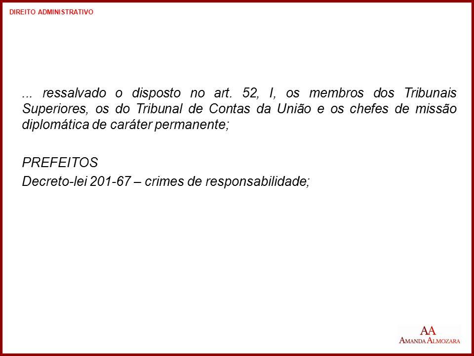 Direito Administrativo – Professora Amanda Almozara LEI Nº.