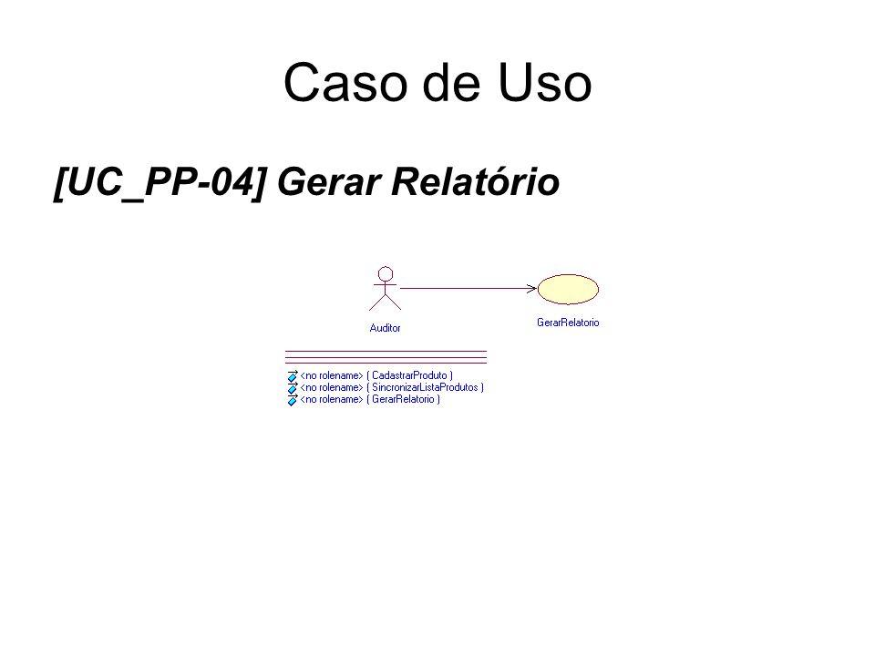 Caso de Uso [UC_PP-04] Gerar Relatório