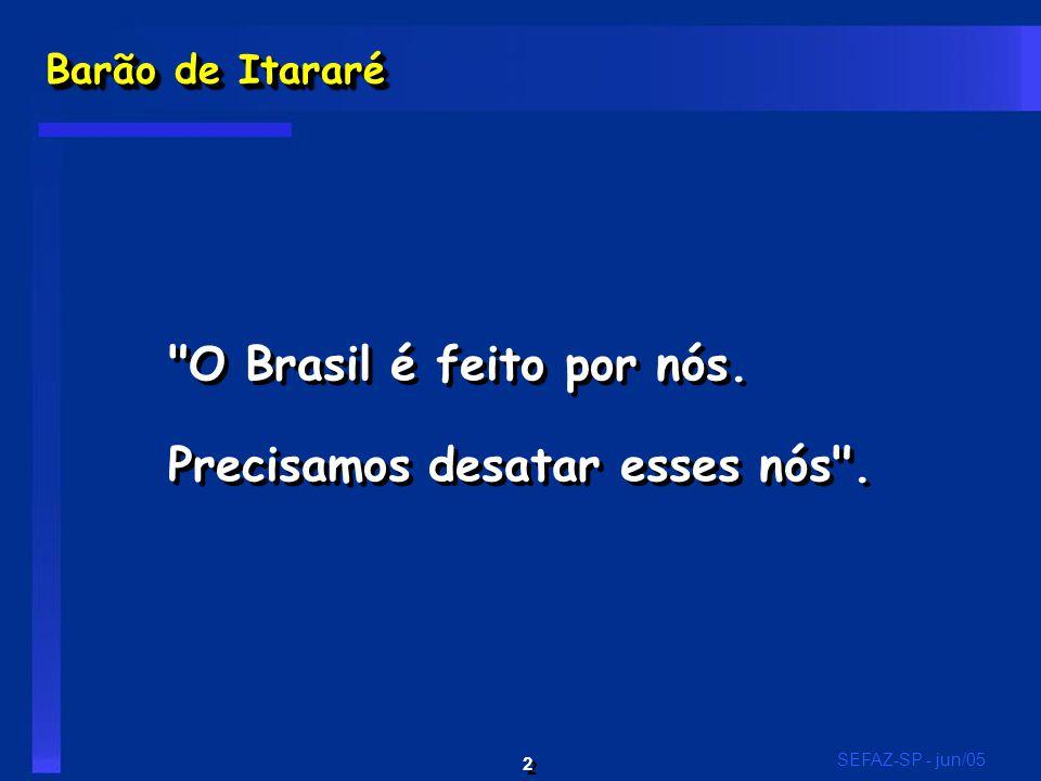 2 2 SEFAZ-SP - jun/05 Barão de Itararé O Brasil é feito por nós.