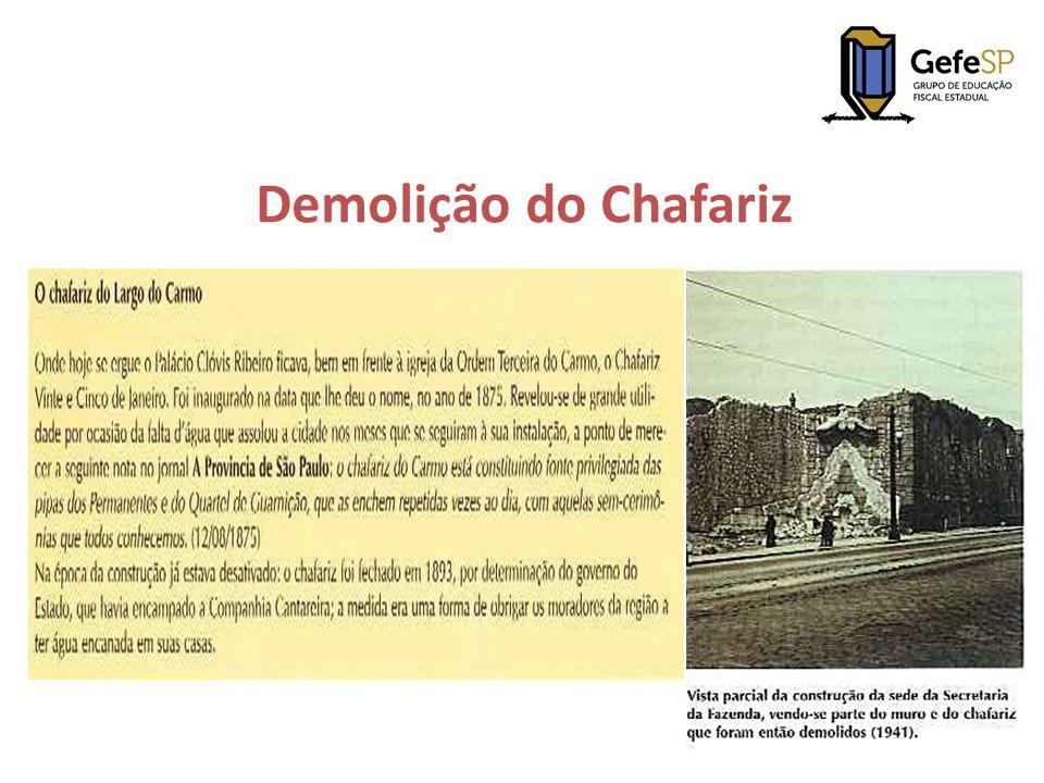 Demolição do Chafariz