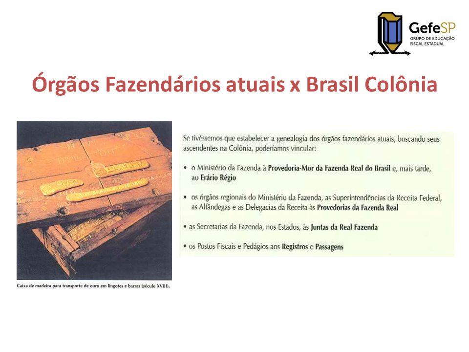 Em 1549, com a instituição do Governo Geral, houve a criação da Provedoria-Mor da Fazenda Real do Brasil, que ficou responsável pela coordenação das Provedorias das diferentes Capitanias.
