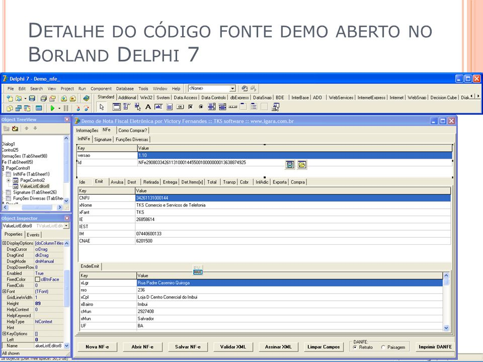 D ETALHE DO CÓDIGO FONTE DEMO ABERTO NO B ORLAND D ELPHI 7