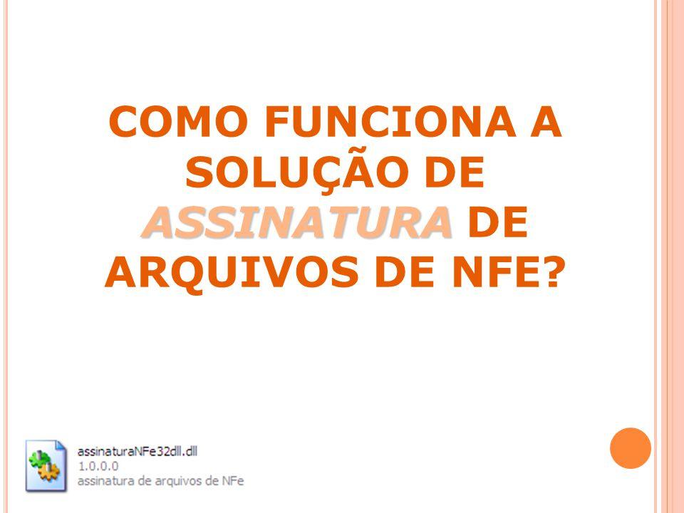 ASSINATURA COMO FUNCIONA A SOLUÇÃO DE ASSINATURA DE ARQUIVOS DE NFE?