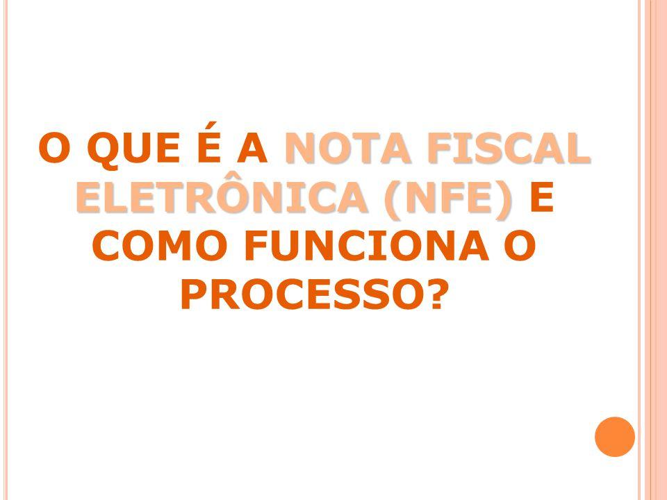 NOTA FISCAL ELETRÔNICA (NFE) O QUE É A NOTA FISCAL ELETRÔNICA (NFE) E COMO FUNCIONA O PROCESSO?