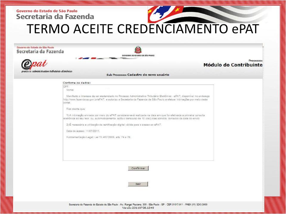 TERMO ACEITE CREDENCIAMENTO ePAT