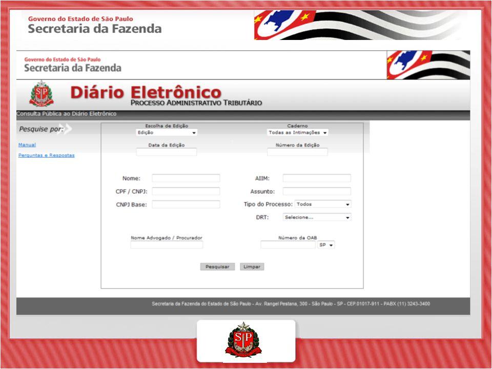 TELA INICIAL DO DEC Estabelecimentos que o usuário pode consultar como responsável Estabelecimentos que o usuário pode consultar como procurador Pasta azul = ícone Caixa Postal.