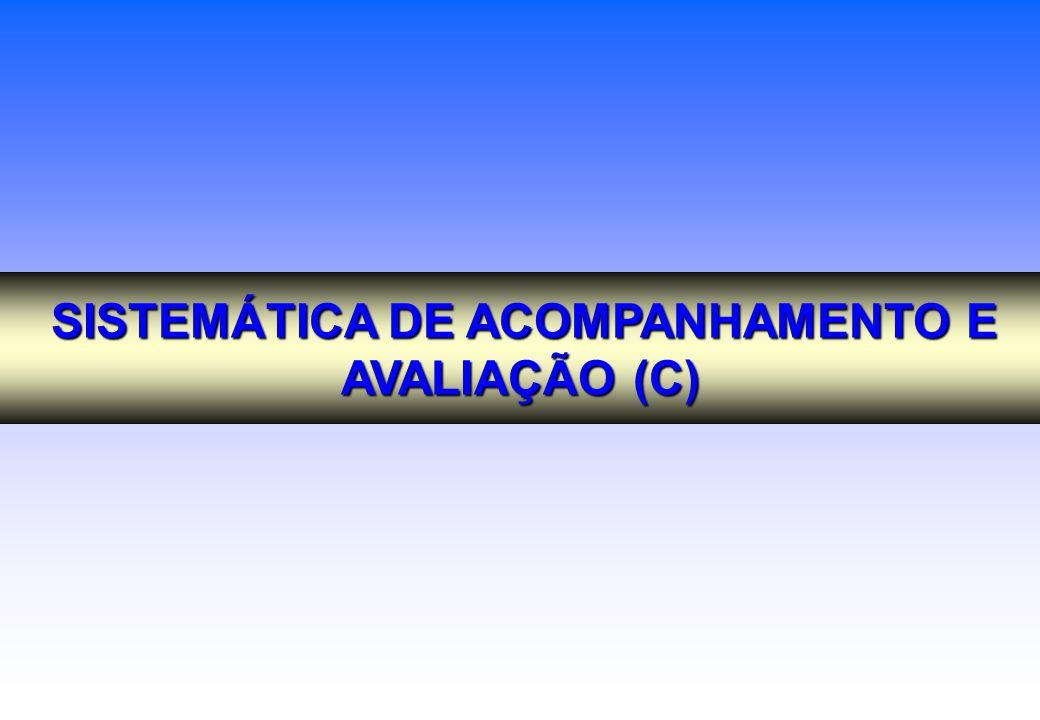 SISTEMÁTICA DE ACOMPANHAMENTO E AVALIAÇÃO (C)