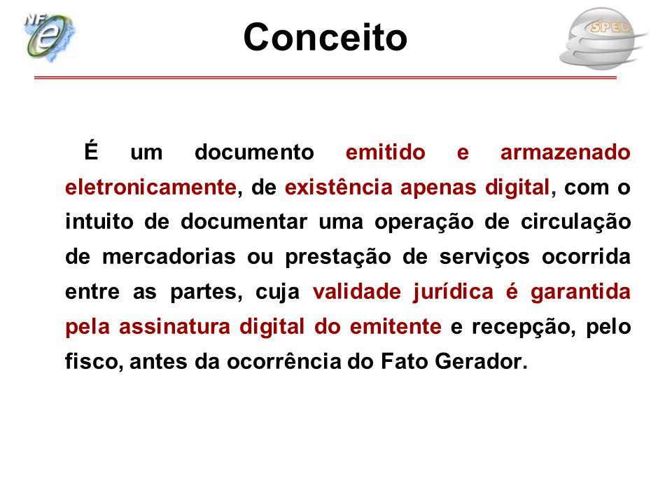   É um documento emitido e armazenado eletronicamente, de existência apenas digital, com o intuito de documentar uma operação de circulação de merca