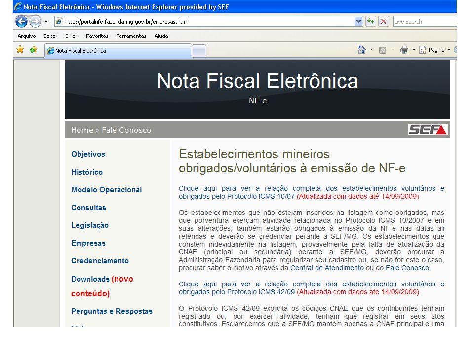 Procedimentos para Contingência - DPEC:  Completar o arquivo gerado com outras informações de controle como o CNPJ, a IE e a UF de localização do contribuinte emissor e assinar o arquivo com o certificado digital do seu emissor;  Enviar o arquivo XML da DPEC para a Receita Federal do Brasil via Web Service ou via upload através de página WEB do Portal Nacional da NF-e; Manual de Contingência