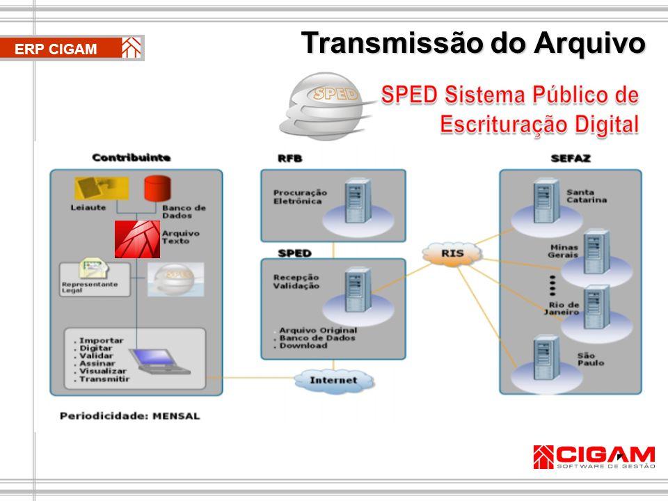 Transmissão do Arquivo ERP CIGAM