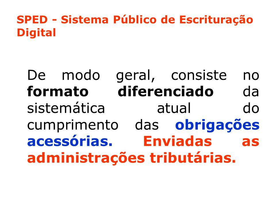 O SPED - Representa uma iniciativa integrada nas três esferas governamentais: ●Federal; ●Estadual; ●Municipal.